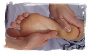 Gina doing Foot Reflexology