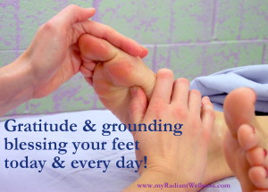 Gratitude & grounding blessing your feet